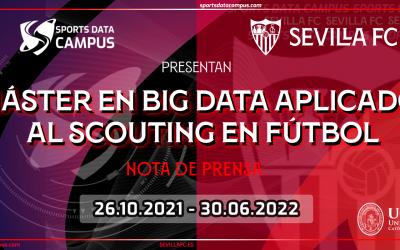 El Sports Data Campus, el Sevilla FC y la UCAM lanzan el primer Máster en Big Data Aplicado al Scouting en Fútbol